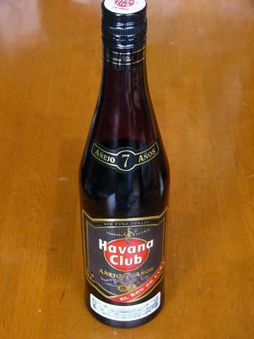キューバ(Cuba)のラム(RUM)ハバナクラブ7年(RON HAVANA CLUB ANEJO 7